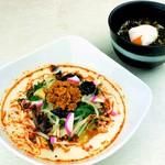 ここの - 【ランチ】ピリ辛冷しちゃんぽん・高菜丼セット