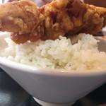 雲隆 - 若鶏の唐揚げ on the ご飯