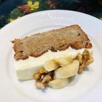 ノム コウベ - バナナたっぷりな超しっとりパウンドケーキ♡これ、超絶におススメです(o^^o)♪