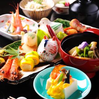 旬の食材を中心としたお料理の数々