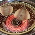 彩かさね - 魚は炙ります