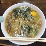 ケン軒 - 料理写真:らーめん細麺。私は、生卵投入派。