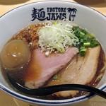 麺ファクトリー ジョーズ - 【(限定) 河内鴨清湯ラーメン + 味玉】¥800 + ¥100