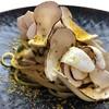 リストランテ・ヒロ チェントロ - 料理写真:早松茸と穴子のペペロンチーノからすみと青柚子を仕上げに