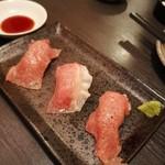 A4和牛 濃厚チーズ 川崎アモーレ - 和牛の握り寿司( ≧∀≦)ノ