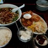 龍神館 - 料理写真:若鶏の唐揚げ+ラーメン定食 842円