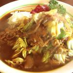 ヤングキャッスル - 料理写真:ダブル(カレーと焼きそば):700円