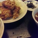 中華食堂 萬里 - 唐揚げ定食。20141109