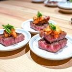 焼肉 きたん - ☆シャトーブリアン 和牛フィレ肉ステーキ 雲丹乗せ