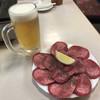 はやし田 - 料理写真:生ビール中、タン