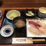 ひら田 - 寿司定食=860円 7月3日