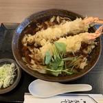 戸田屋 - 天ぷらきしめん+大海老天+つゆ増し
