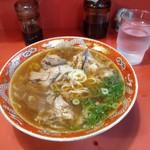 112132786 - 豚骨醤油スープ