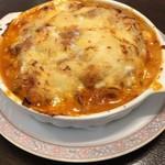 サフランドール - スパゲッティのチーズのせ焼き