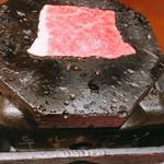 112140791 - 常陸牛の熔岩すき焼き 1498円