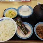 松屋 - 定番朝定食 牛皿 (税込)360円 ※届いた直後 (2019.07.22)