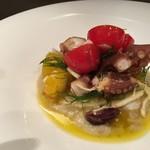 明石蛸とオレンジのシチリア風サラダ