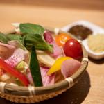 日本酒バル どろん - 三浦野菜と自家製ディップ