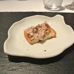リストランテ カノフィーロ - 鶏白レバーとフォアグラのパテ クロスティーニ