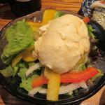 112154745 - セットに含まれる「おぼろ豆富サラダ」