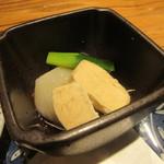 石はら - 「蒸し鶏と淡路玉ねぎの自家製柚子ポン酢」