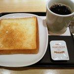 ポーズ カフェ - トーストとコーヒーのモーニングセット260円