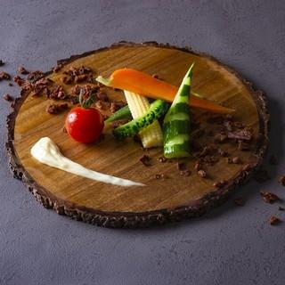 """""""畑""""をイメージした創作料理は、身体にも嬉しいこといっぱい◎"""