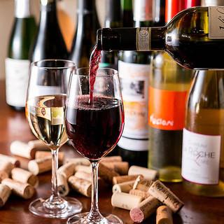世界から選りすぐりの厳選ワインを多彩にラインアップ◎