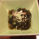 鶏飯 広小路バード - お通しの柔らかな酢の味のもずく