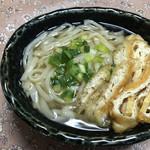 住谷豆腐店 - 料理写真:家で作った なるちゅるうどん 美味! そこに住谷さんのふわふわのお揚げがあう