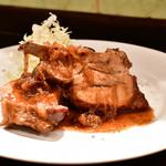旬采 - 火の本豚 スペアリブのオーブン焼き@1,580円:全景