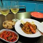 112178267 - 本格的なスペイン料理7品の2名用コース(写真は一部)RM160.00、白ワイン1本RM140.00