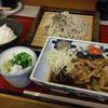 忠兵衛 - 料理写真:生姜焼き+ざる蕎麦 780円