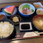 たちばな - 料理写真:刺身定食。 定食メニューはほかにも有り。