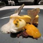 オーグードゥジュール メルヴェイユ 博多 - マンゴーとパッションフルーツのムース