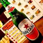 アジアンフード&バー バグース - ビンタン (インドネシアのビール)