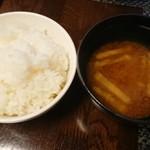 112197317 - ランチのご飯と味噌汁