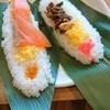 パノラマテラス - 料理写真:笹すし (サーモン)150円 笹すし(プレーン)130円 えんめい 茶 100円