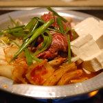 冷麺館 - 料理写真:テッチャン鍋(小)ハラミ追加
