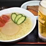 福島屋 - すっぴん冷麺&おでん定食Ⓑ(生ビールセット)(夏季限定)