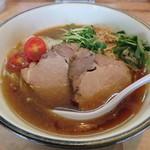 麺や輝 - 【(限定) 濃い秋刀魚の冷やし醤油ラーメン】¥850