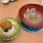 魚々楽寿し - 白魚、あさりのお味噌汁
