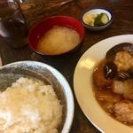 よしのや食堂 - 日替ランチ/中華風肉だんご定食700円