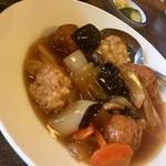 よしのや食堂 - 中華風肉だんご