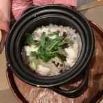 112207398 - 真鯛と有馬山椒の土鍋御飯(1500円)