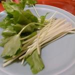 川﨑 - 生の三つ葉を肴に呑む・・・初体験
