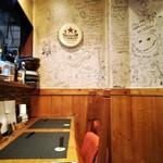 グリル末松 - 店内1階カウンター席