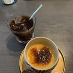 112211870 - 食後のドリンクと名古屋コーチンプリン