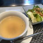 112217357 - オニオンスープ&サラダ♡