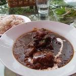 Cafe tenba - 【ビーフシチュー】コクがあっておいしい~ご飯は十穀米です。